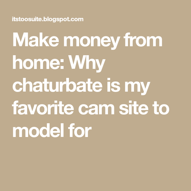 Confirm. how to earn money on chaturbate