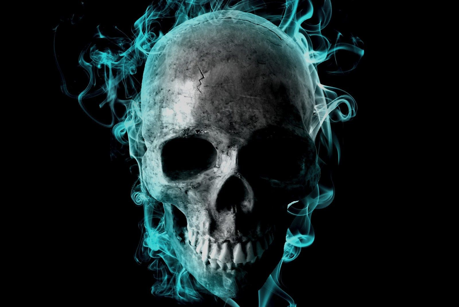32 incredible flaming skull 3d wallpapers - 7te | more ghost