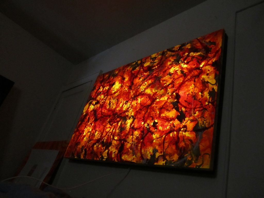 New Project Custom Backlit Canvas With Led S Wetcanvas Canvas Light Art Wall Frames Diy Light Up Art