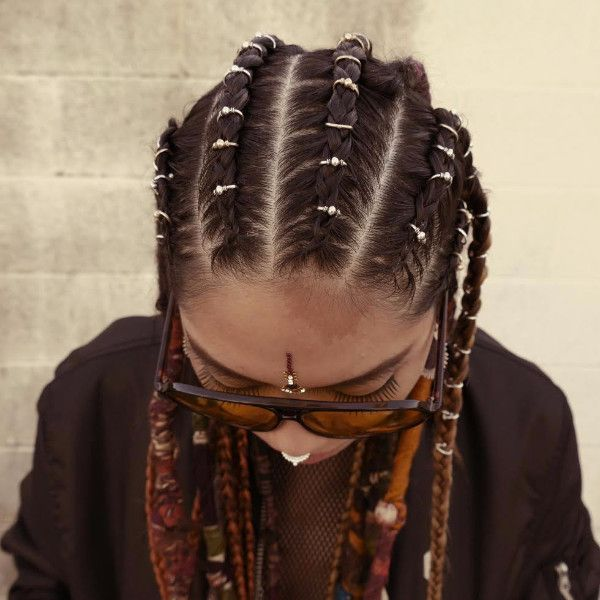 Plain Hair Ring Hair Styles Hair Rings Box Braids Hairstyles For Black Women