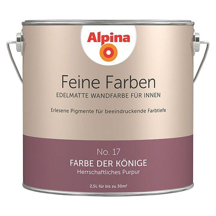 Alpina Wandfarbe Feine Farben (2,5 l, Farbe der Könige, No. 17 - Herrschaftliches Purpur, Matt)