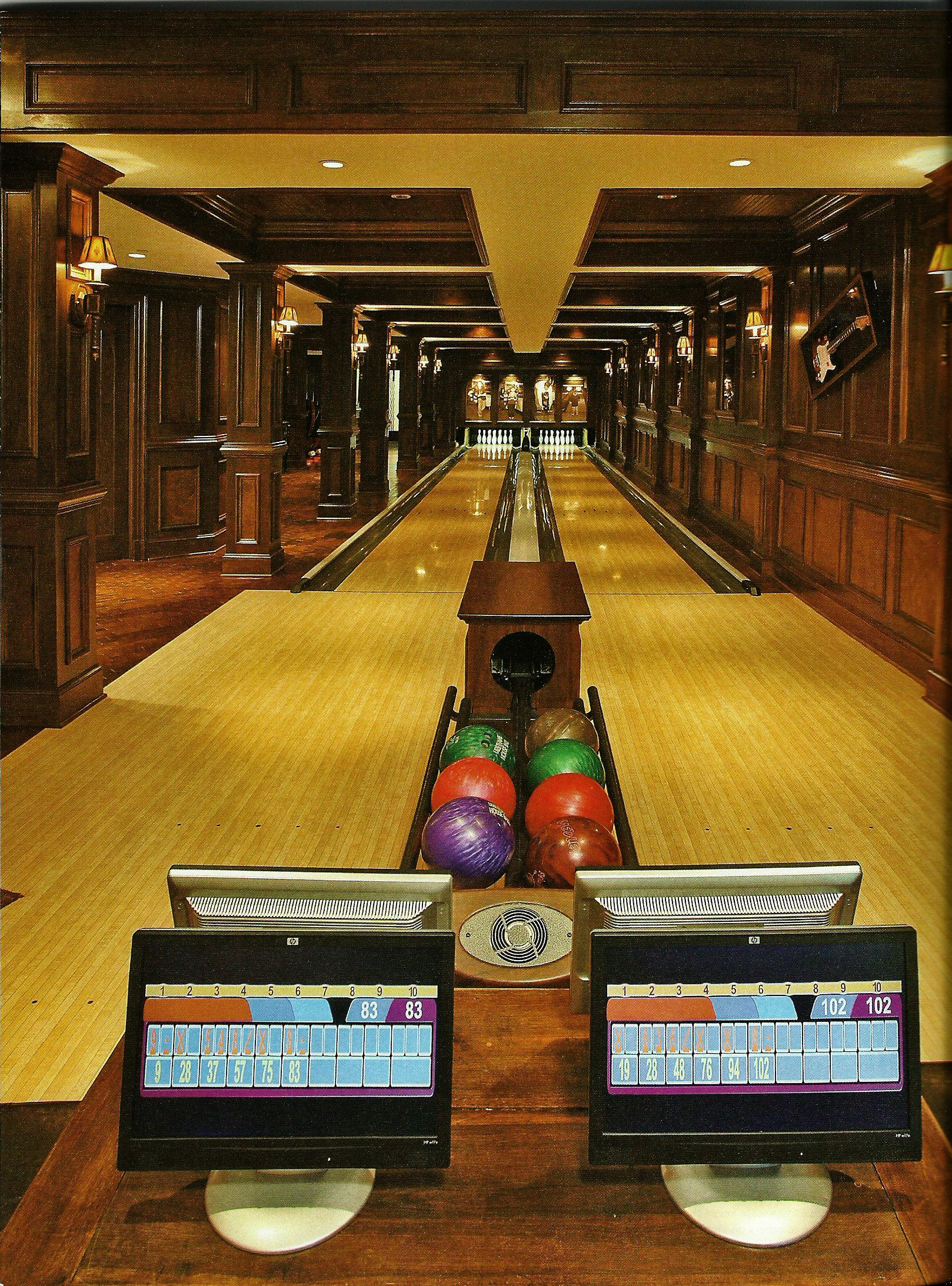 Residential Bowling Bowling For the Home Pinterest