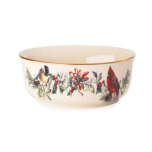 LENOX Winter Greetings Vegetable Bowl $95 HOLIDAY SPECIAL * BEST PRICE GUARANTEE * FREE WORLD SHIPPING OR PICK UP AVAILABLE * www.brightonmelvin.com