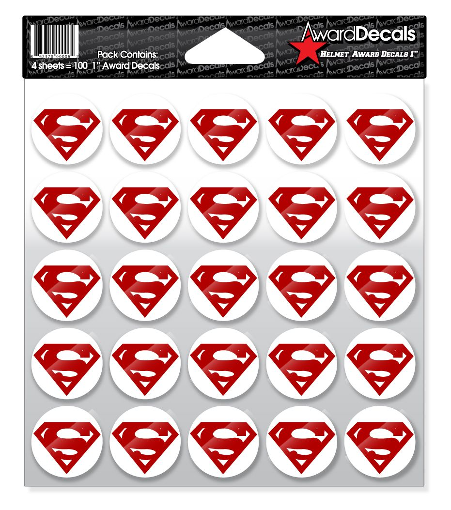 Award Decals Superman Decal 100 Stickers