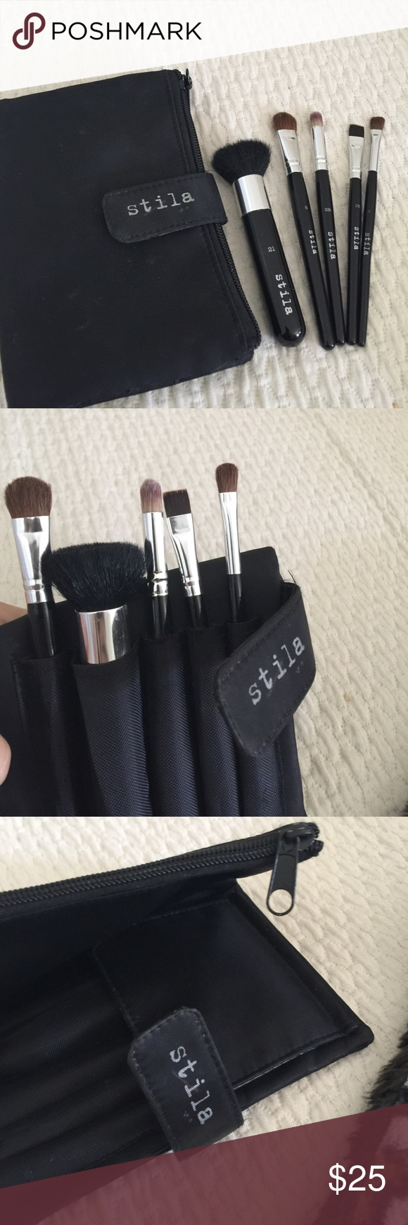 STILA Travel Make up brush set w/ zipper pouch5 Makeup
