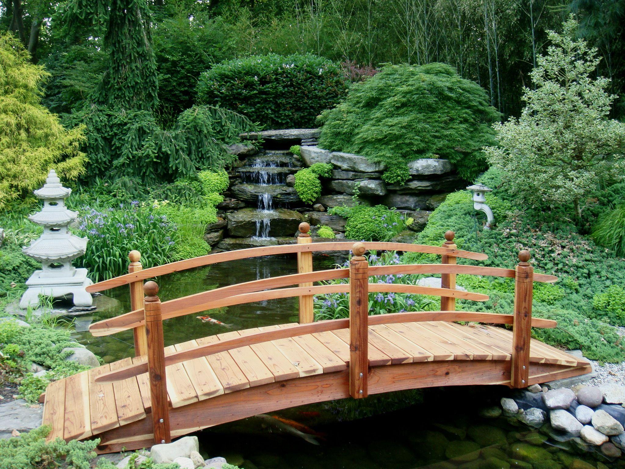Wooden Garden bridge designs | 14ft double Selection of Amazing ...