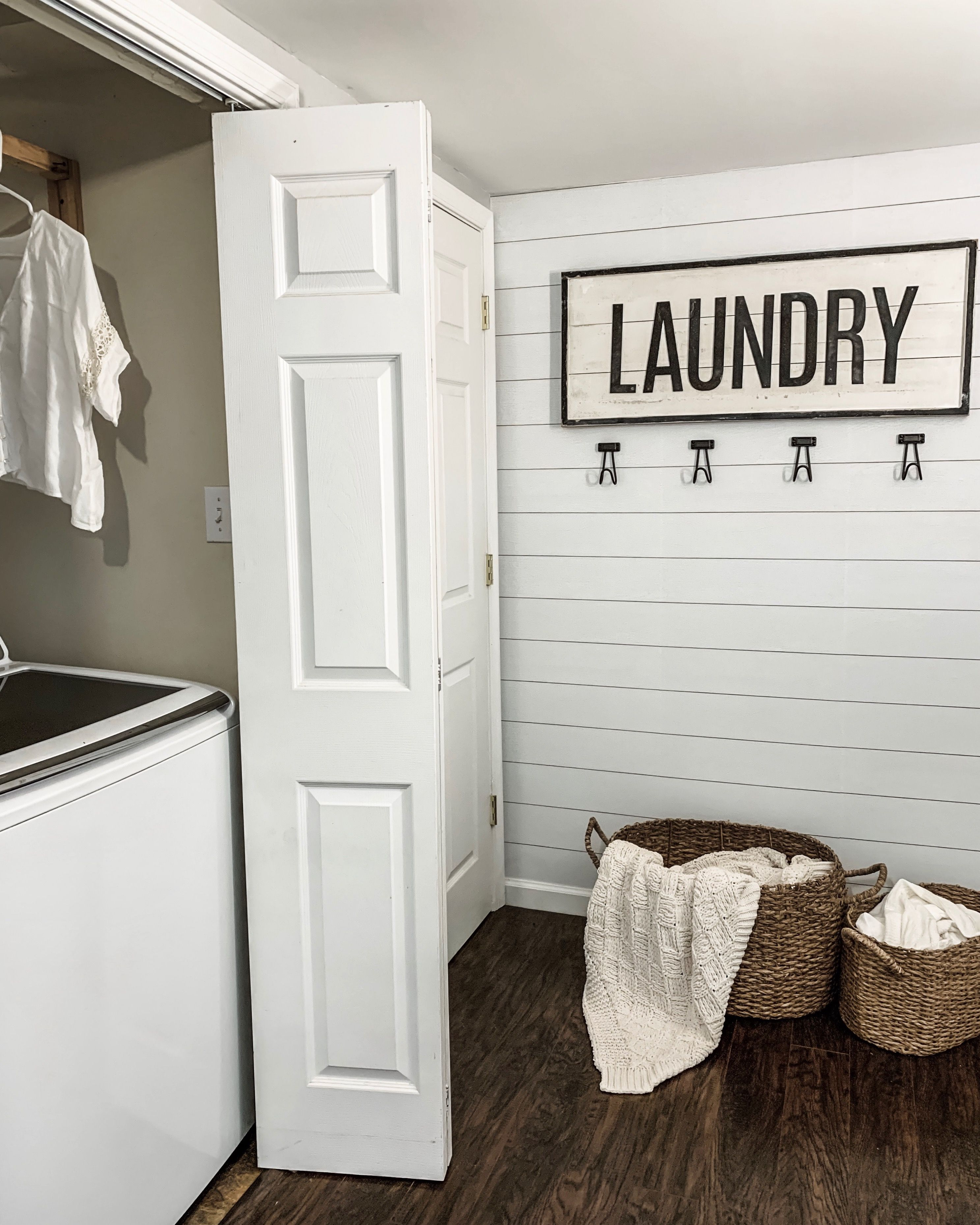 Laundry Room With Shiplap Laundry Room Makeover Peel And Stick Shiplap Home Decor