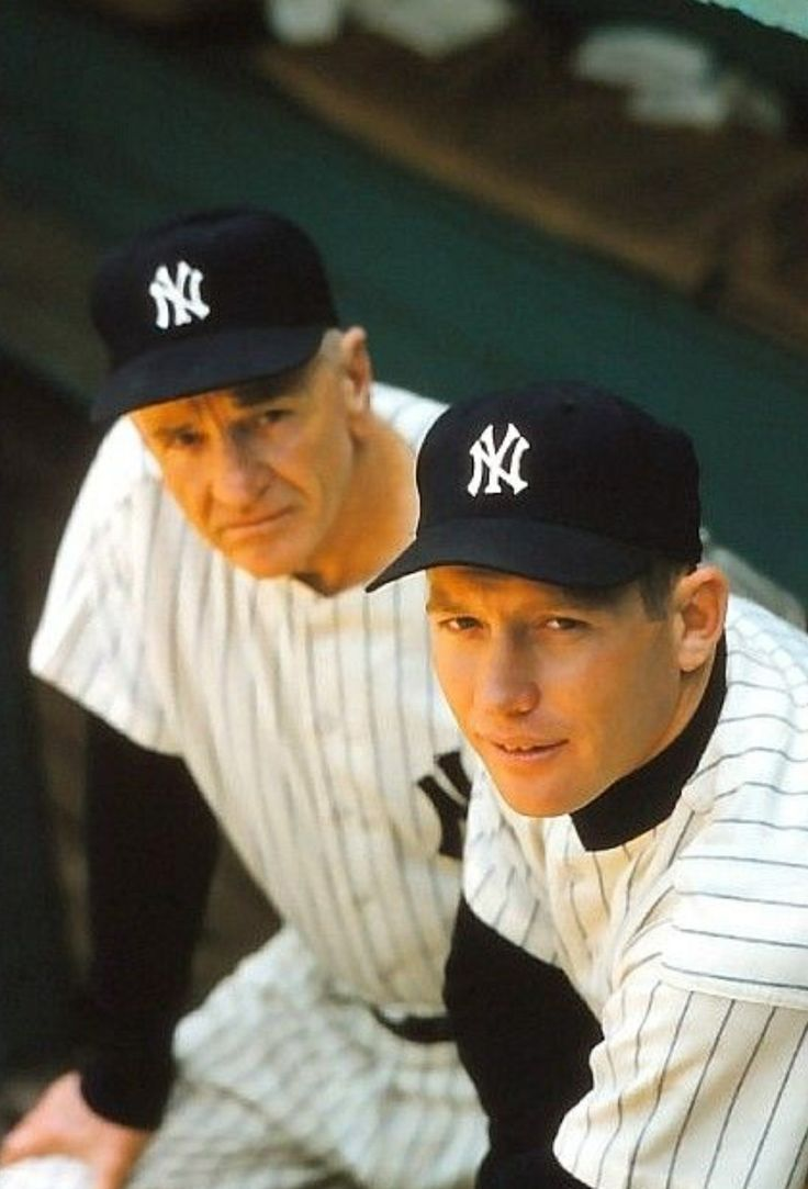 Mick and the Professor New york yankees baseball