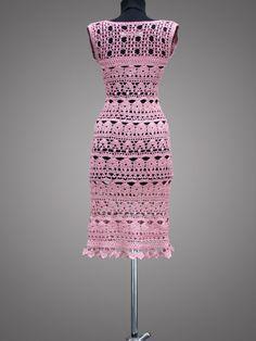 SALE 50% OFF. Crochet Dress Catherine. Ready to by TsarevaCrochet