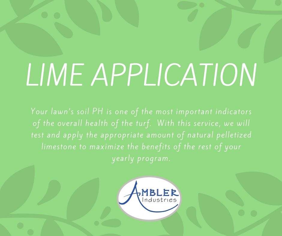 How do you apply lime treatment to your lawn?