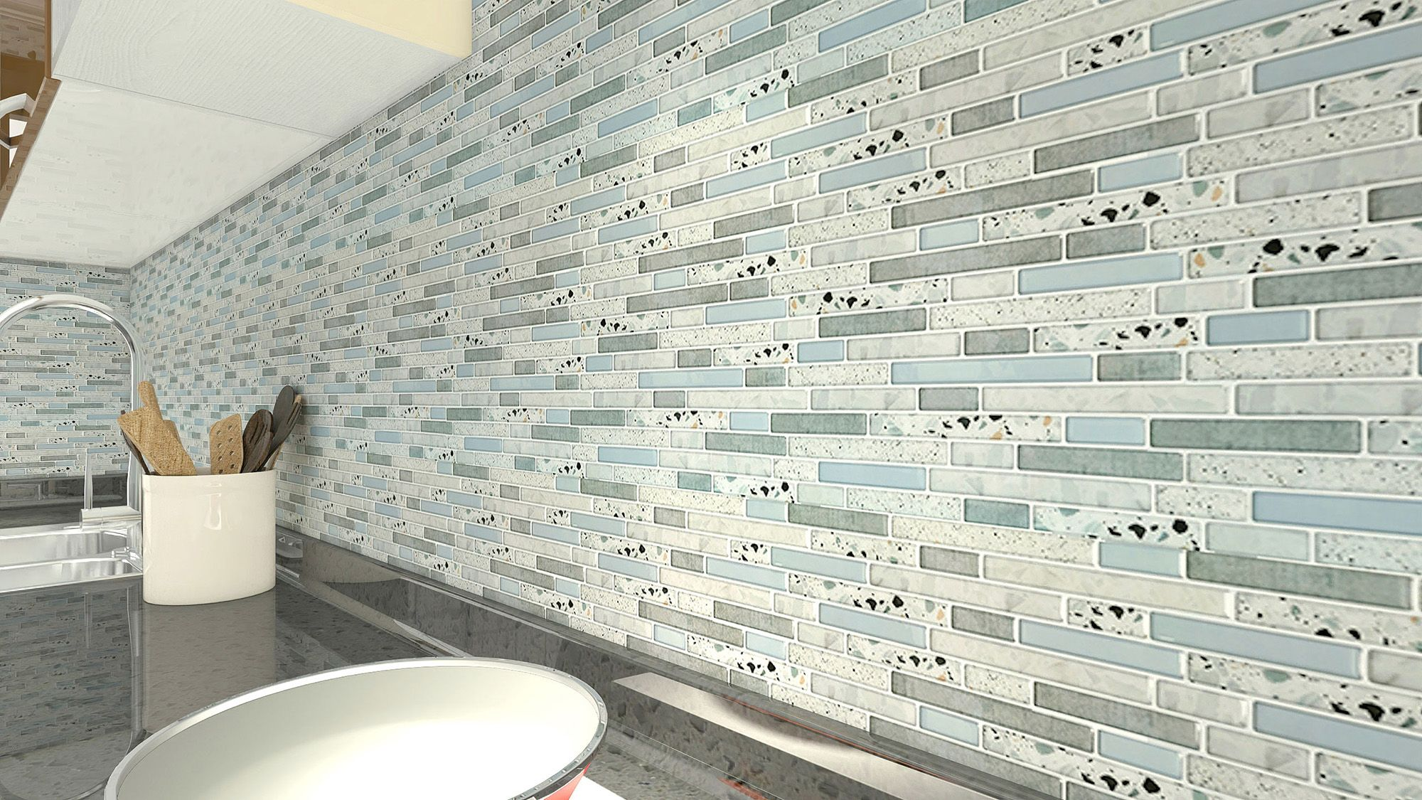 A17085 10 Piece Peel And Stick Backsplash Tile 12 X 12 Stone Tiles In 2020 Peel N Stick Backsplash Tile Backsplash Backsplash