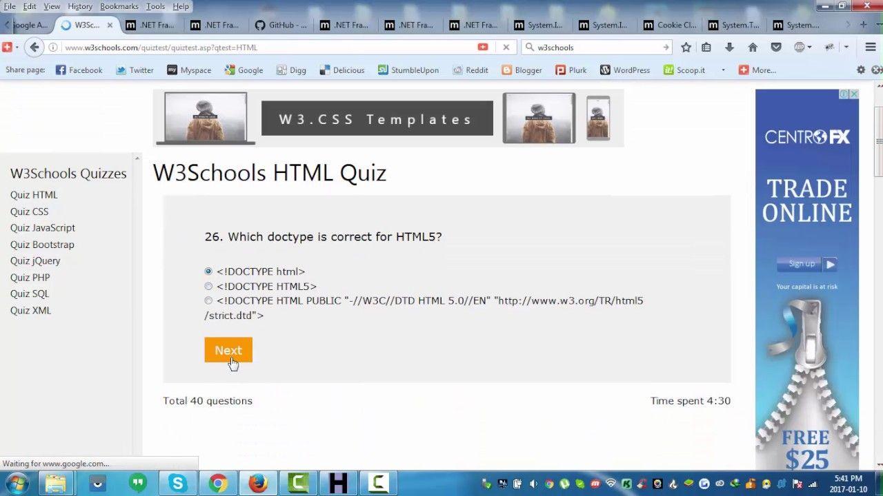 Web colors w3schools - W3schools Html Quiz Walkthrough