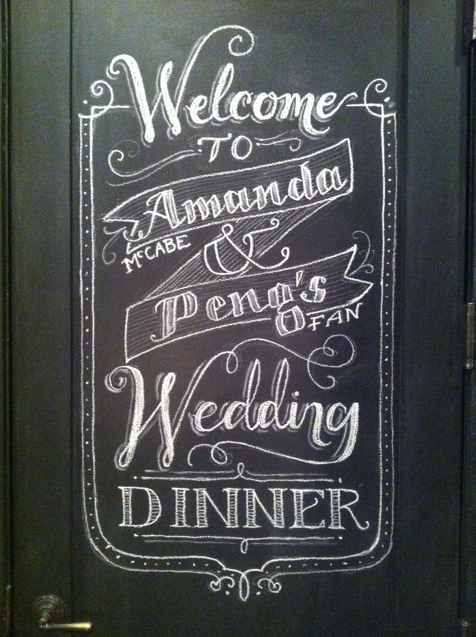 Chalkboard Welcome Wedding Wall For Amanda Peng At Haven S