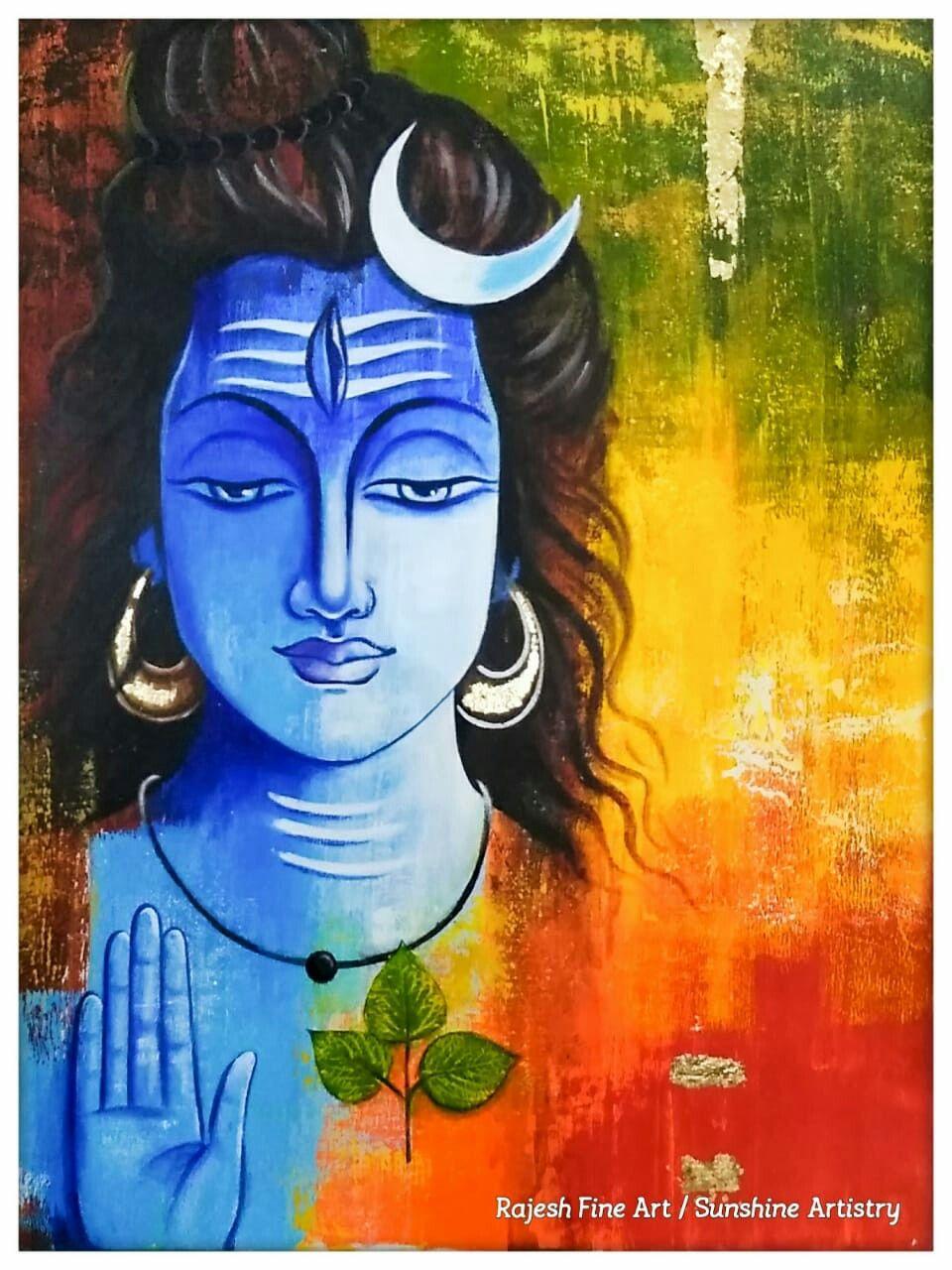 Pin By Ashok Yadav On Rajesh Fine Art Lord Ganesha Paintings