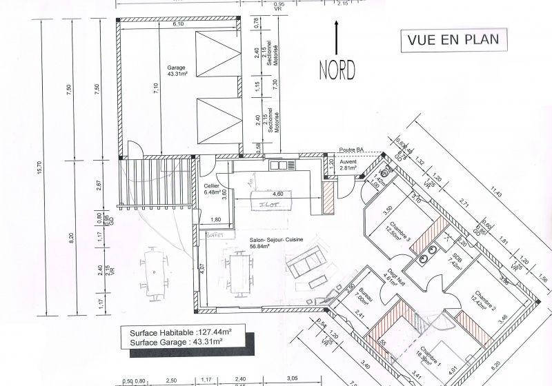 Plan De Maison Plein Pied En V Floor Plan In 2019 Plan