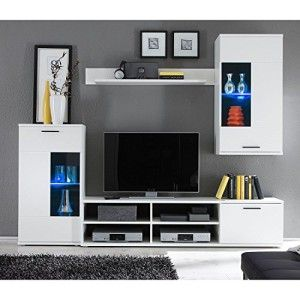 Hbz Wohnwand Frontal 1 In Weiss Design Inklusive Beleuchtung Http Www Moebelkaufen Info Produkt Hbz Wohnwand Frontal 1 In Weiss Tv Rack Design Furniture Home