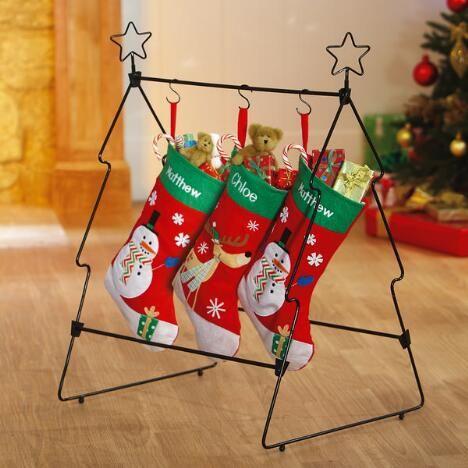 floor standing christmas stocking holders christmas stocking holder christmas ideas. Black Bedroom Furniture Sets. Home Design Ideas