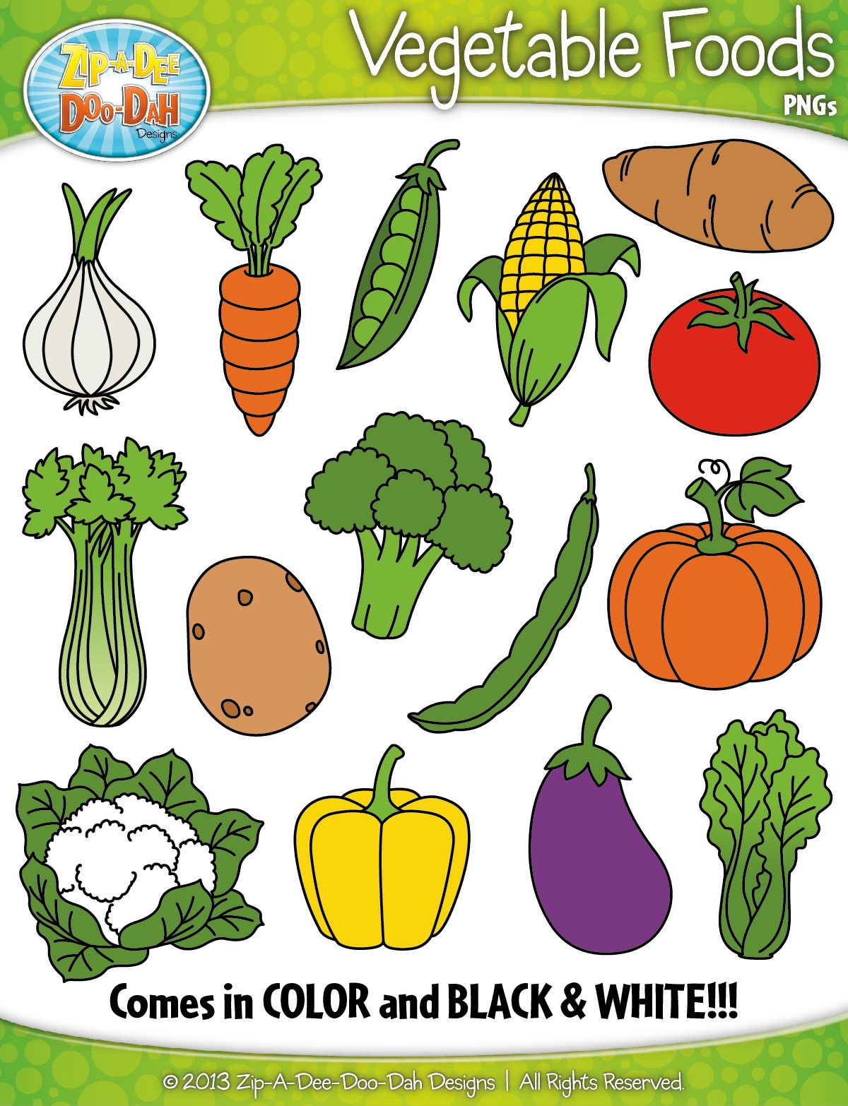 Vegetable Foods Clipart Zip A Dee Doo Dah Designs
