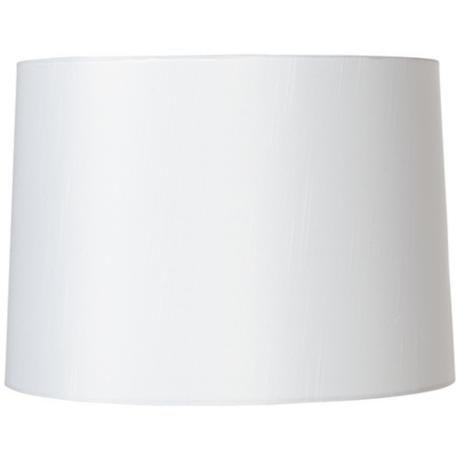 White Fabric Hardback Lamp Shade 13x14x10 Spider U8697 Lamps Plus White Lamp Shade Lamp Shade Drum Lampshade