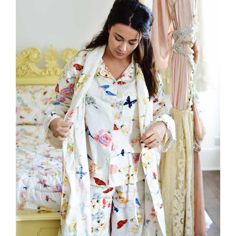 Ladies Secret Garden Print Dressing Gown - Powell Craft #luxury ...