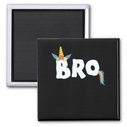 Unicorn Birthday Girl Shirt Bro Brother Family Mat Magnet
