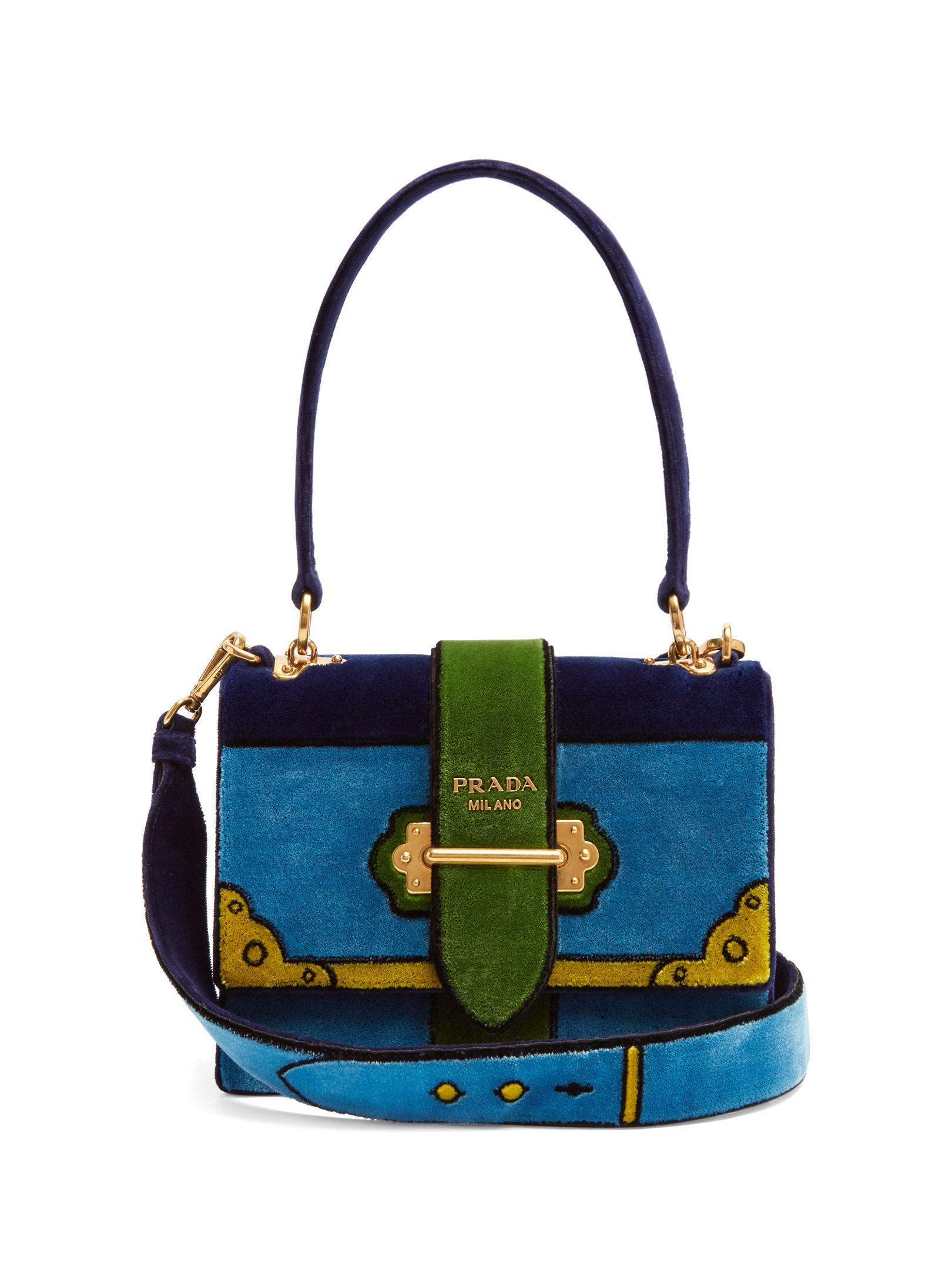 131f4fa30966 Click here to buy Prada Cartoon velvet shoulder bag at MATCHESFASHION.COM