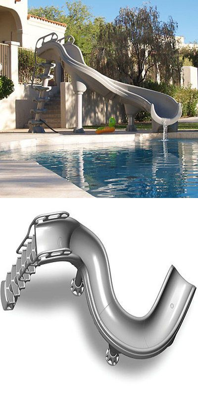 Pool Slides And Diving Boards 181072: Inter Fab Adrenaline Inground  Swimming Pool Slide Left