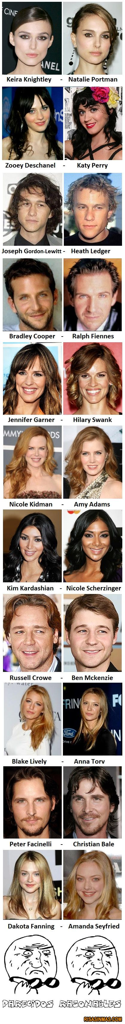 Parecidos razonables de famosos Ampliar imagen: http://bit.ly/JdJDpb