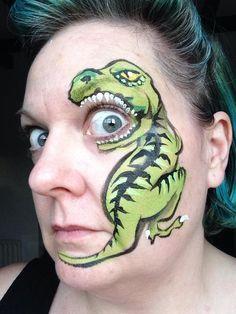 T Rex Face Paint Bing Images Bemalte Gesichter