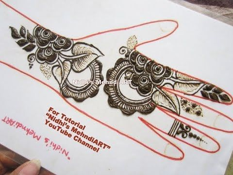 Unique Floral Gulf Style Henna Mehndi Design Tutorial For Front Hand