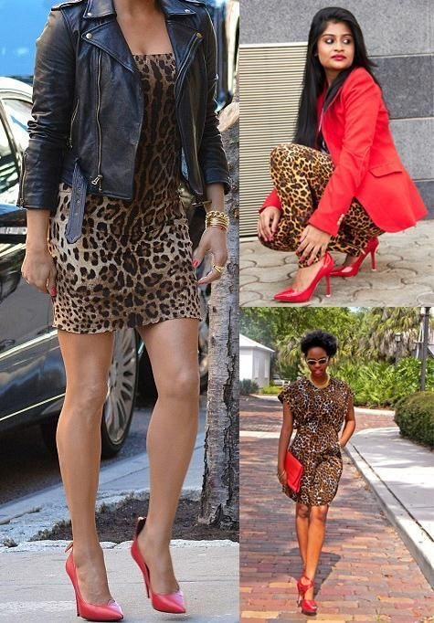 e116ceaf7491 Animal print with red shoes | Fashion!!!! in 2019 | Red shoes, Red ...