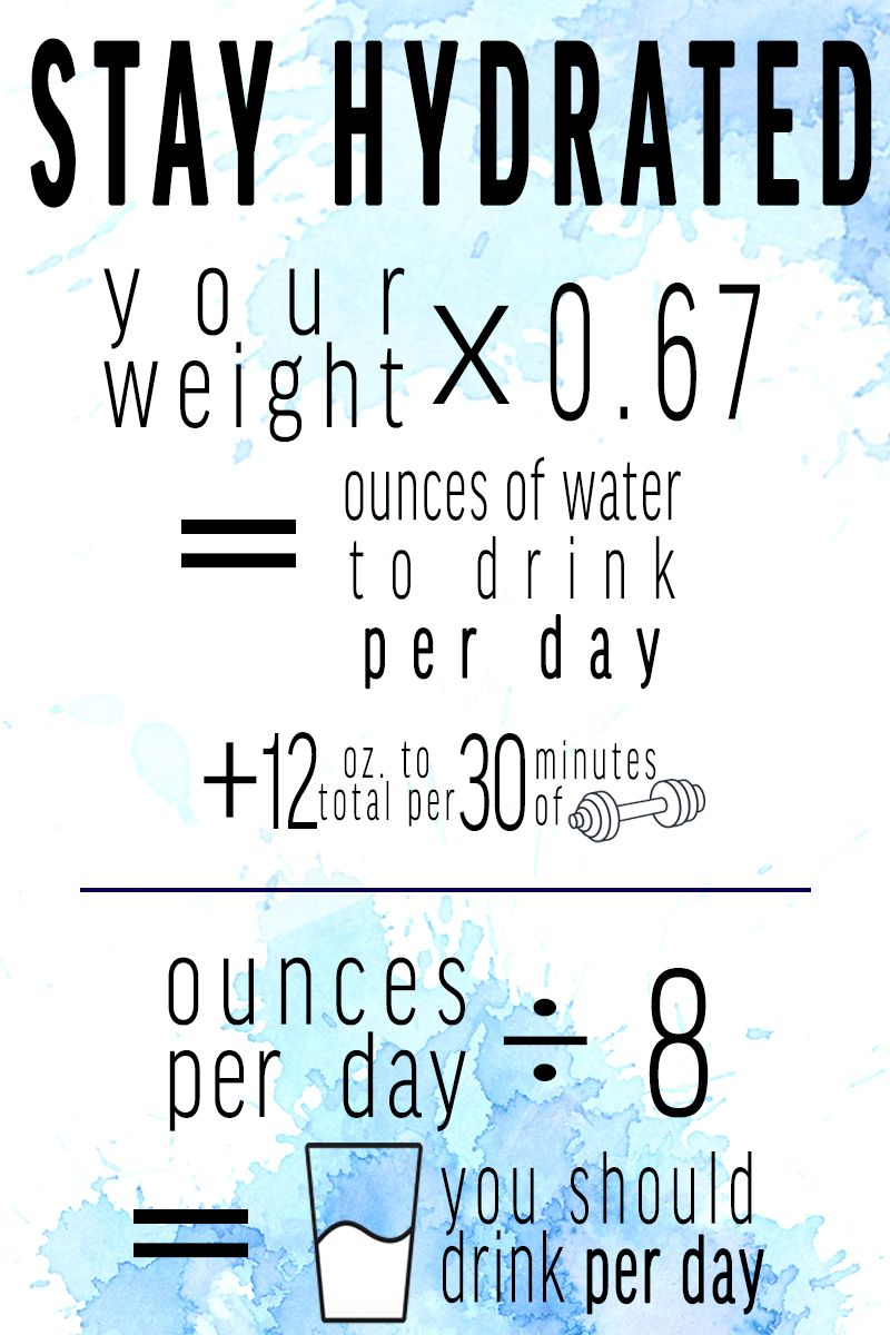 Every Body Is Different Use This Simple Equation To Calculate How Much Water You Should Be Drinking Daily To St Hydration Quote Motivation Fit Girl Motivation