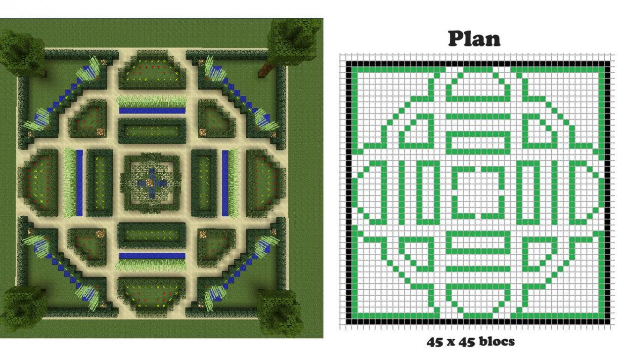 Minecraft blueprints pour faciliter la construction je ralise jardin minecraft la franaise malvernweather Images