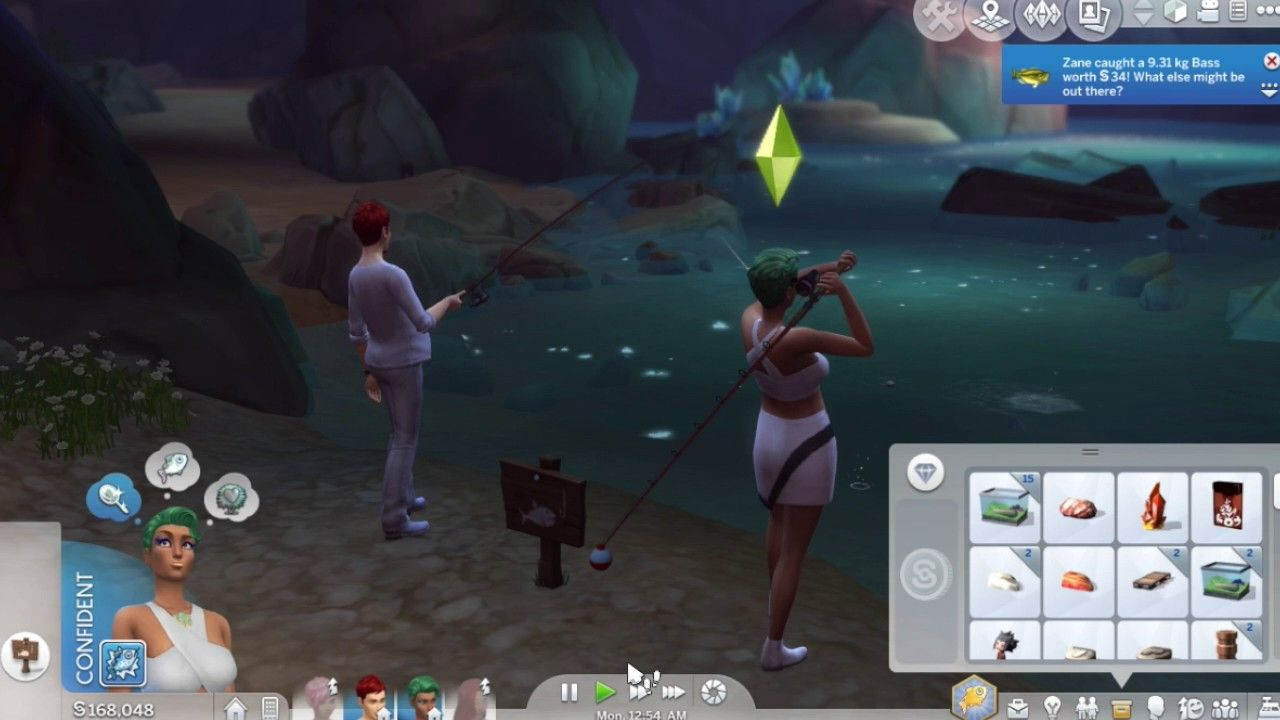 The sims 4 animal crossing challenge part 31 the last for Sims 4 fishing