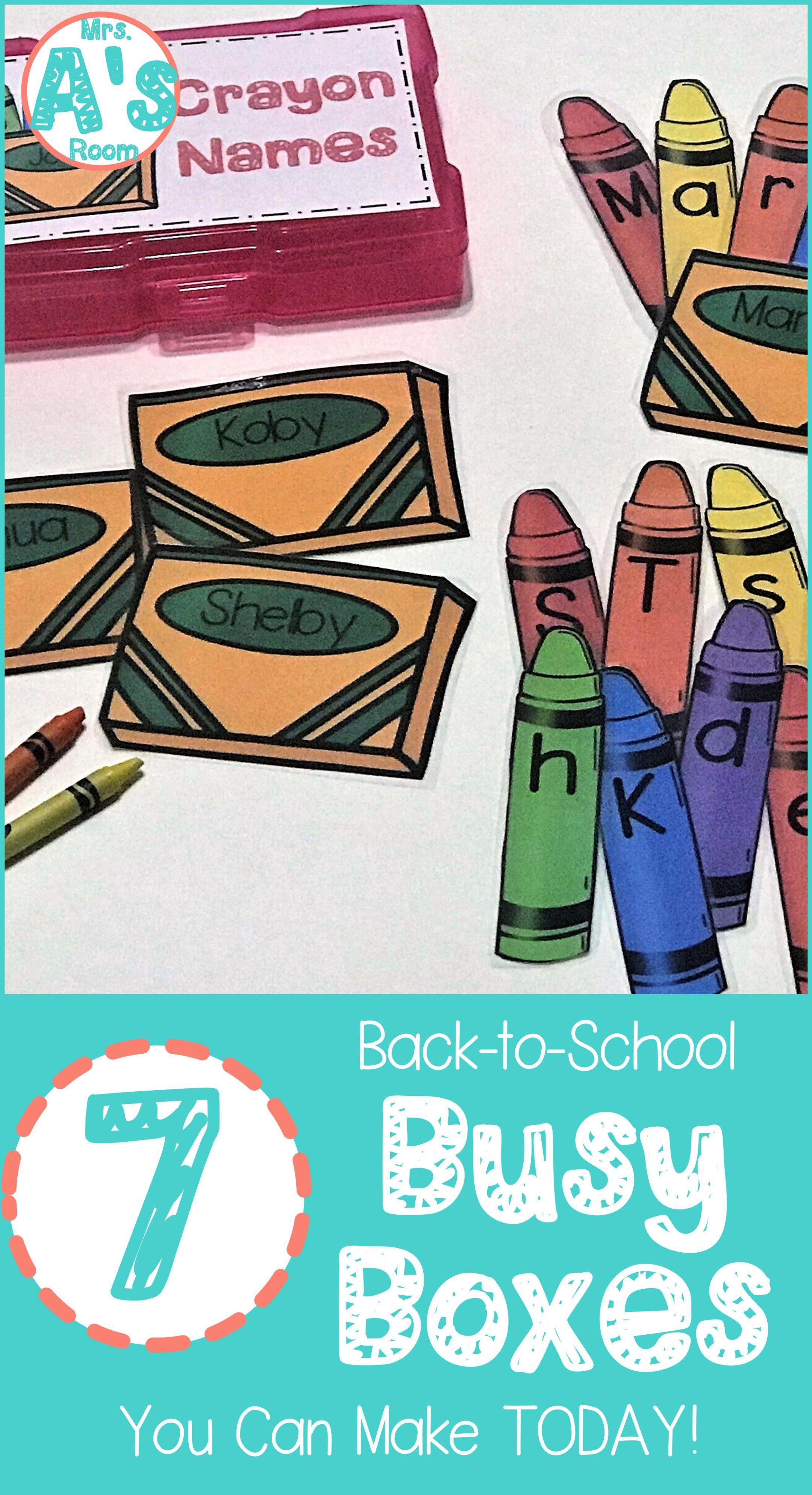 Crayon Names Busy Box