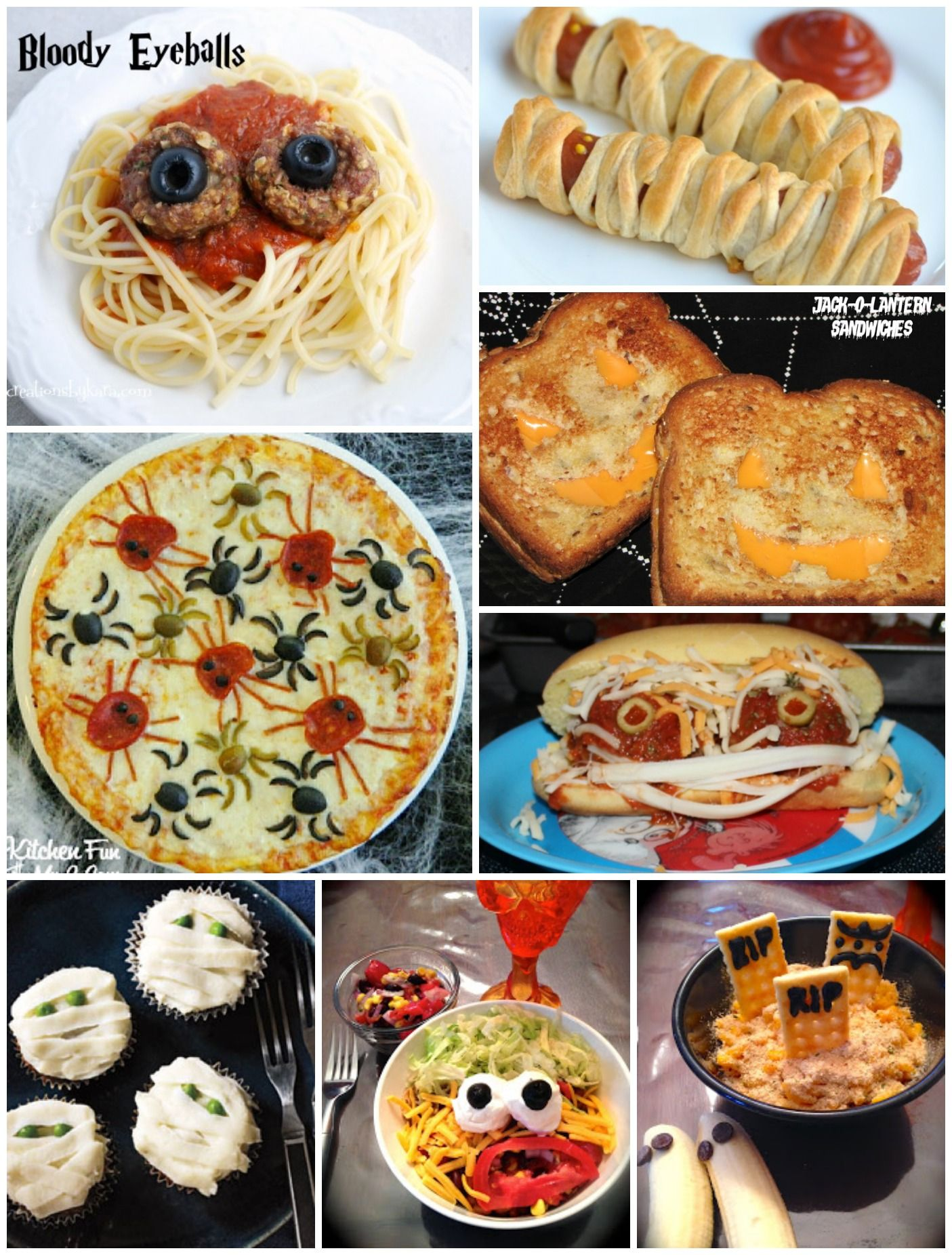 Fun Halloween Dinner Ideas from happygoluckyblog.com