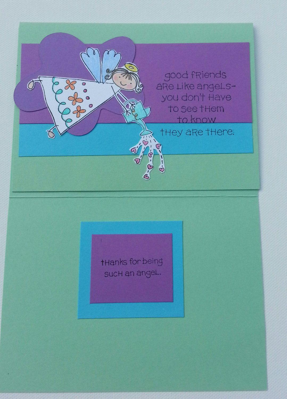 Friendship Greeting Card Handmade Card Thinking Of You Card