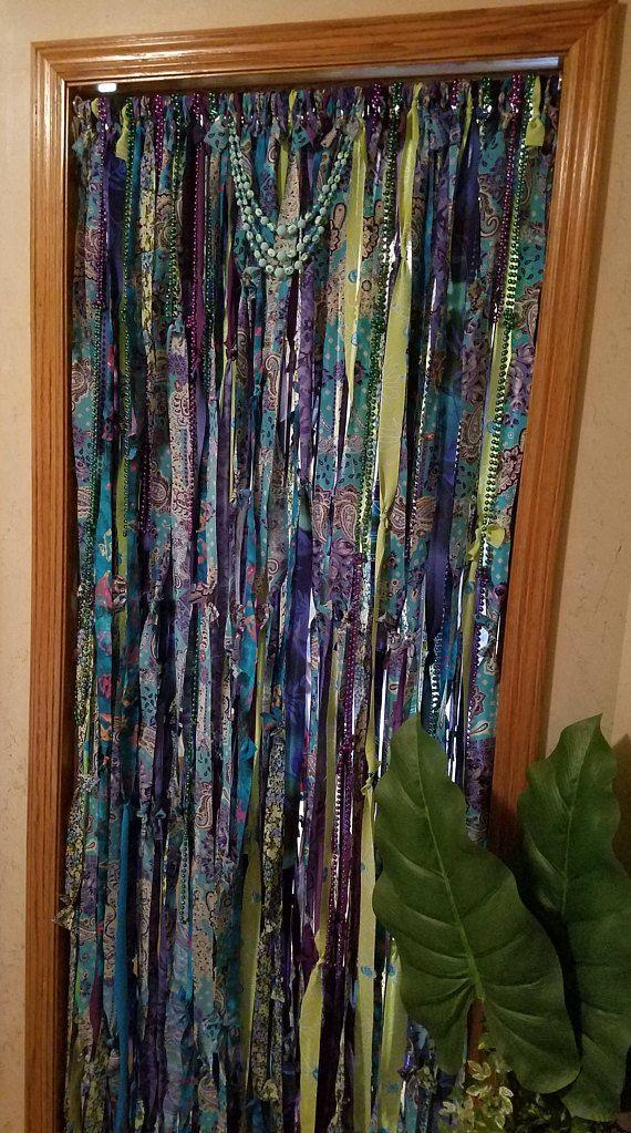 Boho Door Curtain, Door Curtain, Gypsy Curtain, Closet Curtain, Hippie  Curtain