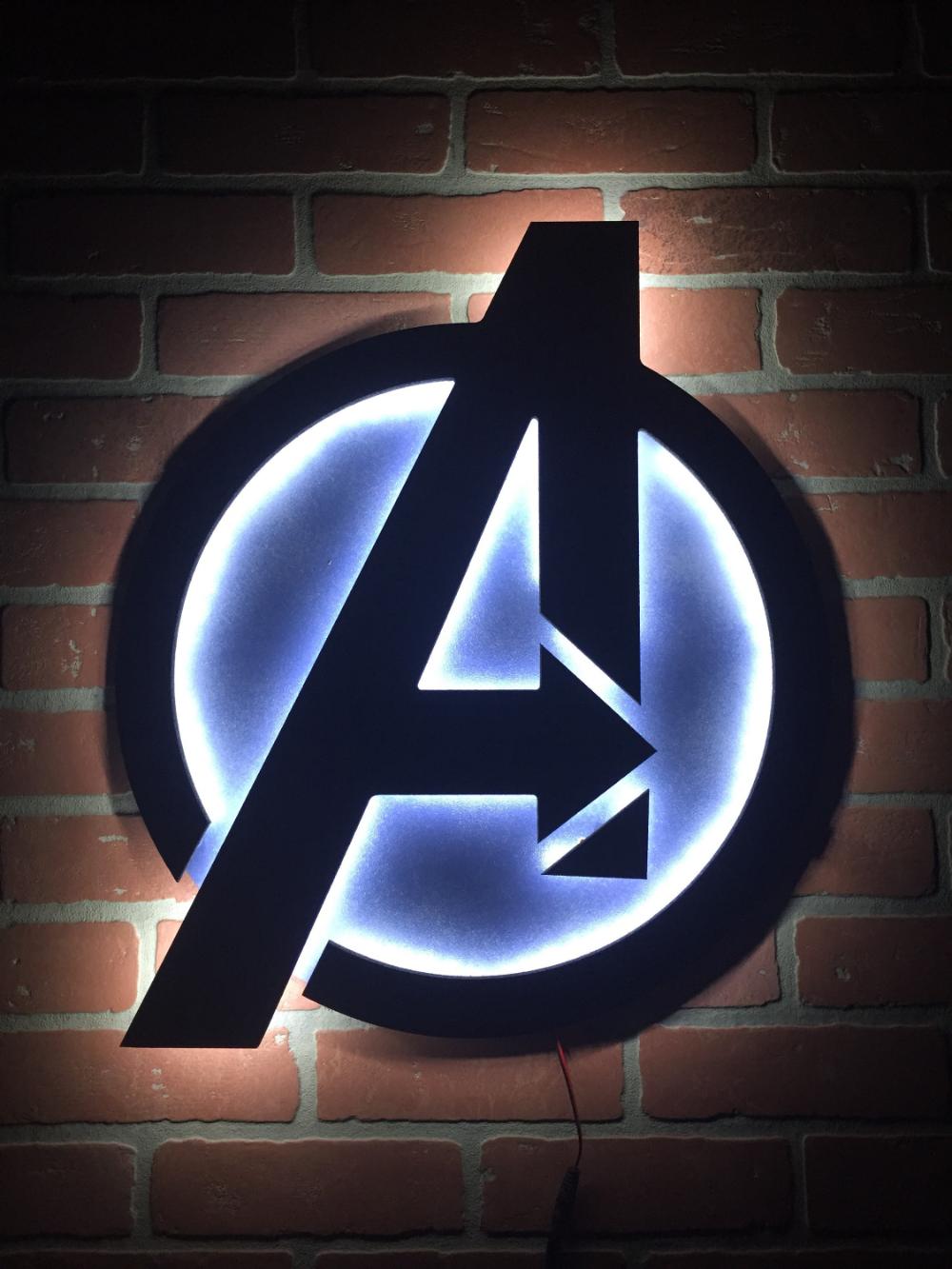 NEW!! Avengers Illuminated LED Backlit Logo Sign for