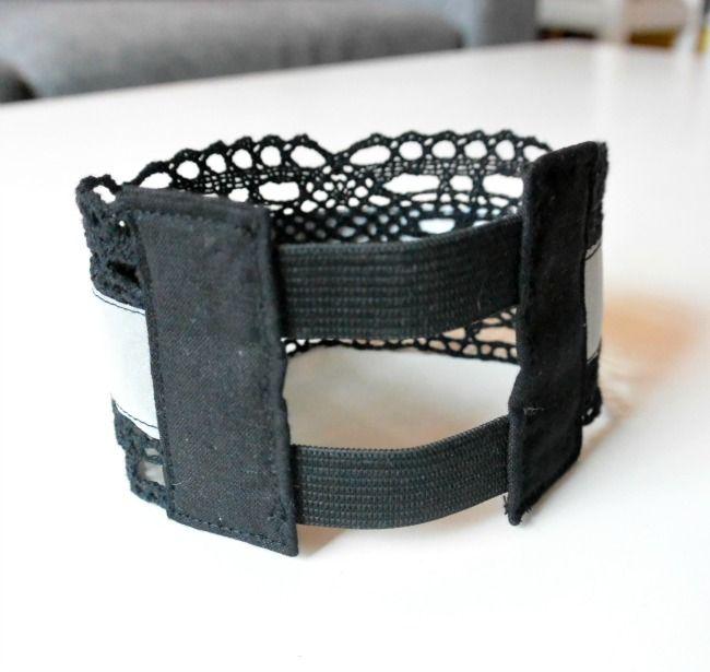 DIY Pitsinen käsivarsiheijastin