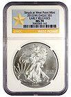 2012W Silver Eagle Struck at West Point Mint NGC MS70 ER STAR LABEL SKU24945 - $64 - http://www.onlinegoldshopping.net/eagle-ms70/#