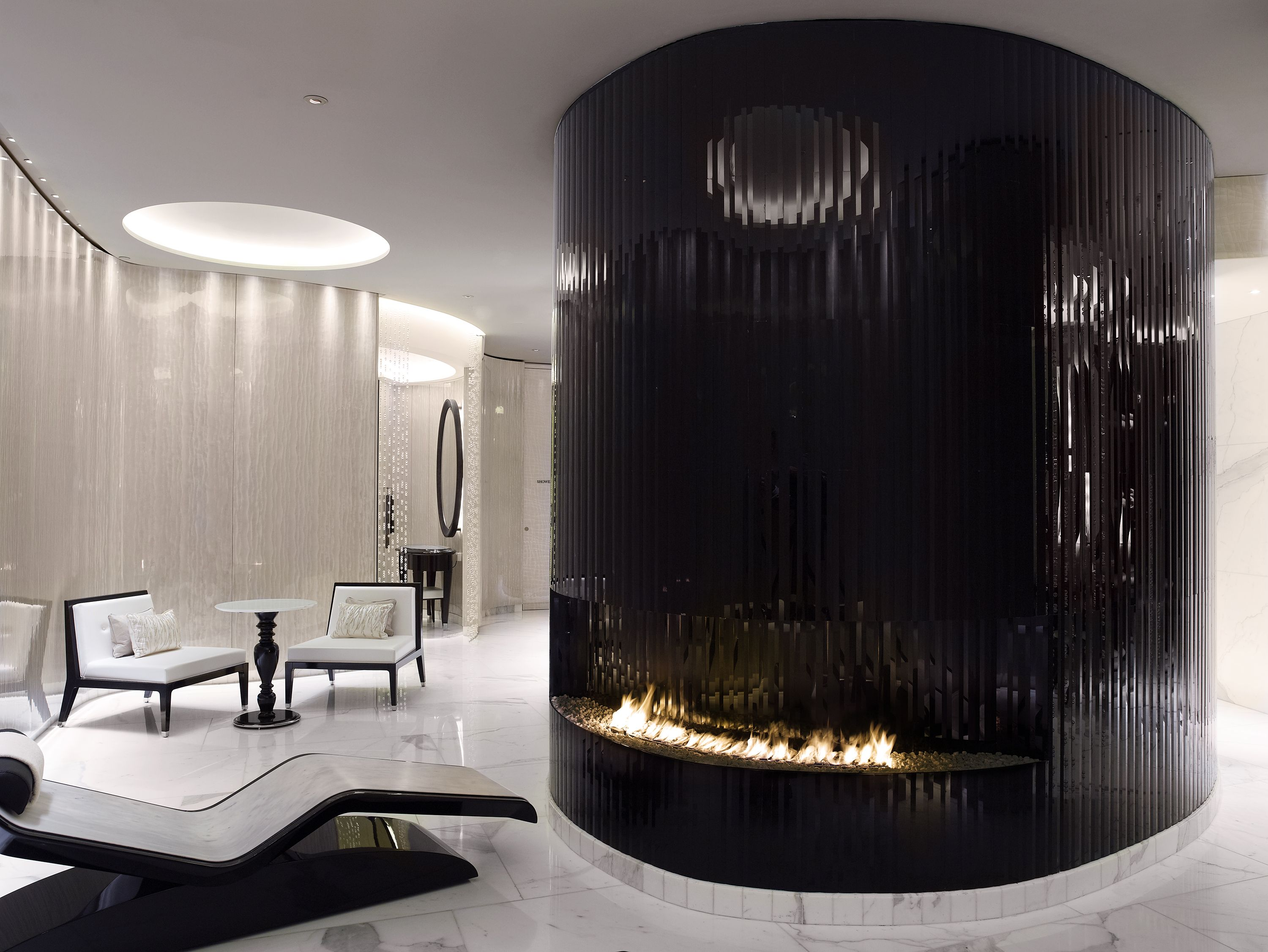 Put Your Feet Up By The Fire In The Ladies Changing Room At Espa Life At Corinthia Spa Corinthia Hotel London Spa London Corinthia Hotel