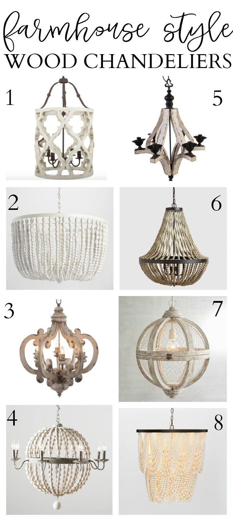 Our New Living Room Light 8 Farmhouse Style Wood Chandeliers