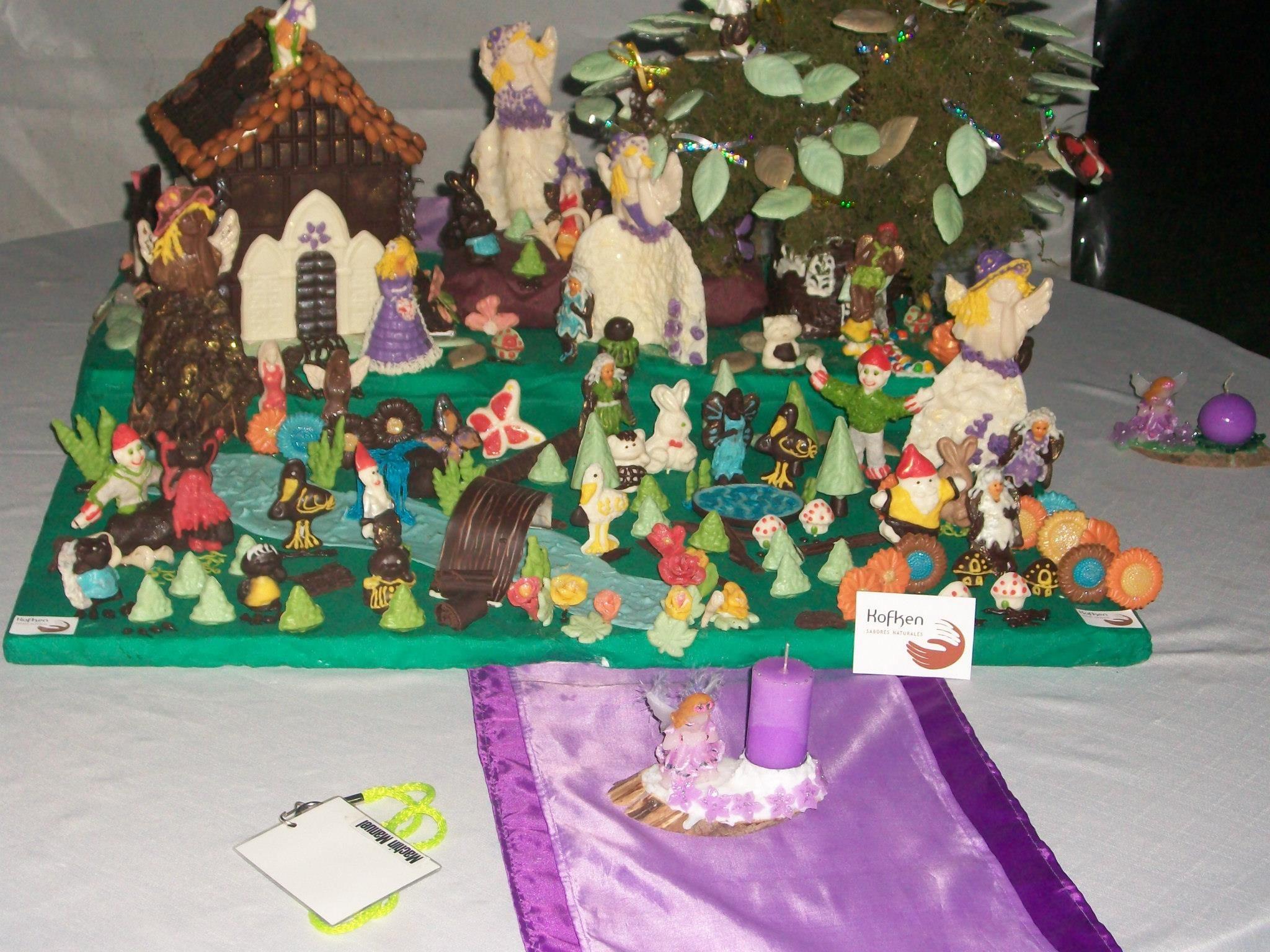 Bosque de hadas y duendes 1 x 1 metro 20 Kg de chocolate