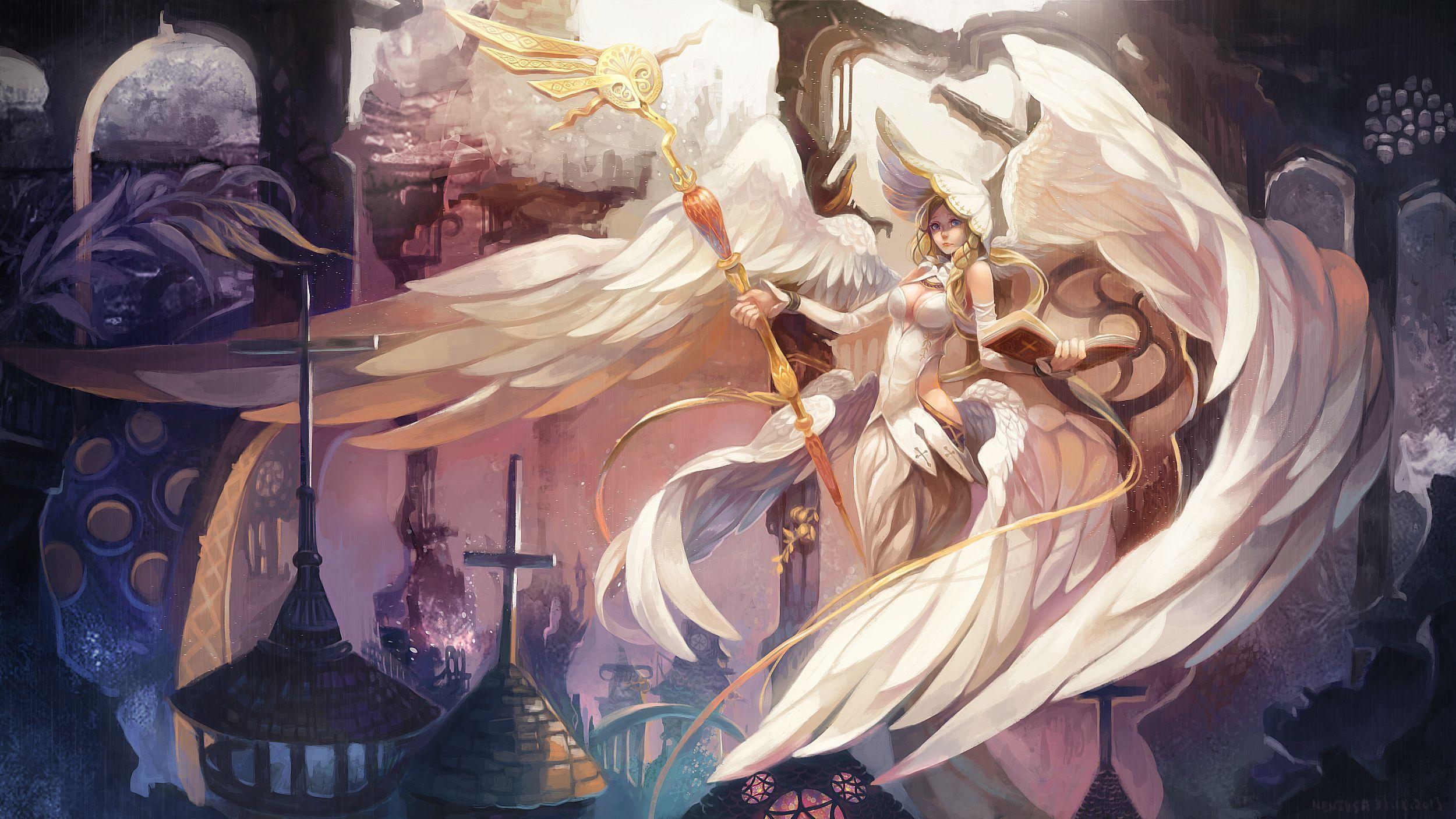 Angel Priest Underground City Fantasy Art Angels Anime Art Fantasy Anime Art Beautiful