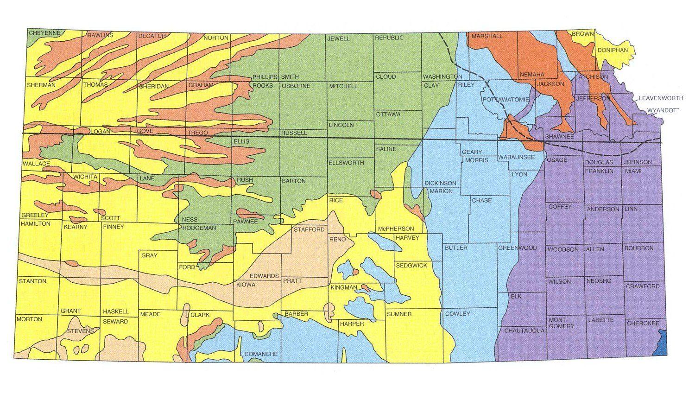 Geologic Maps of the 50 United States   I Love Kansas in ...