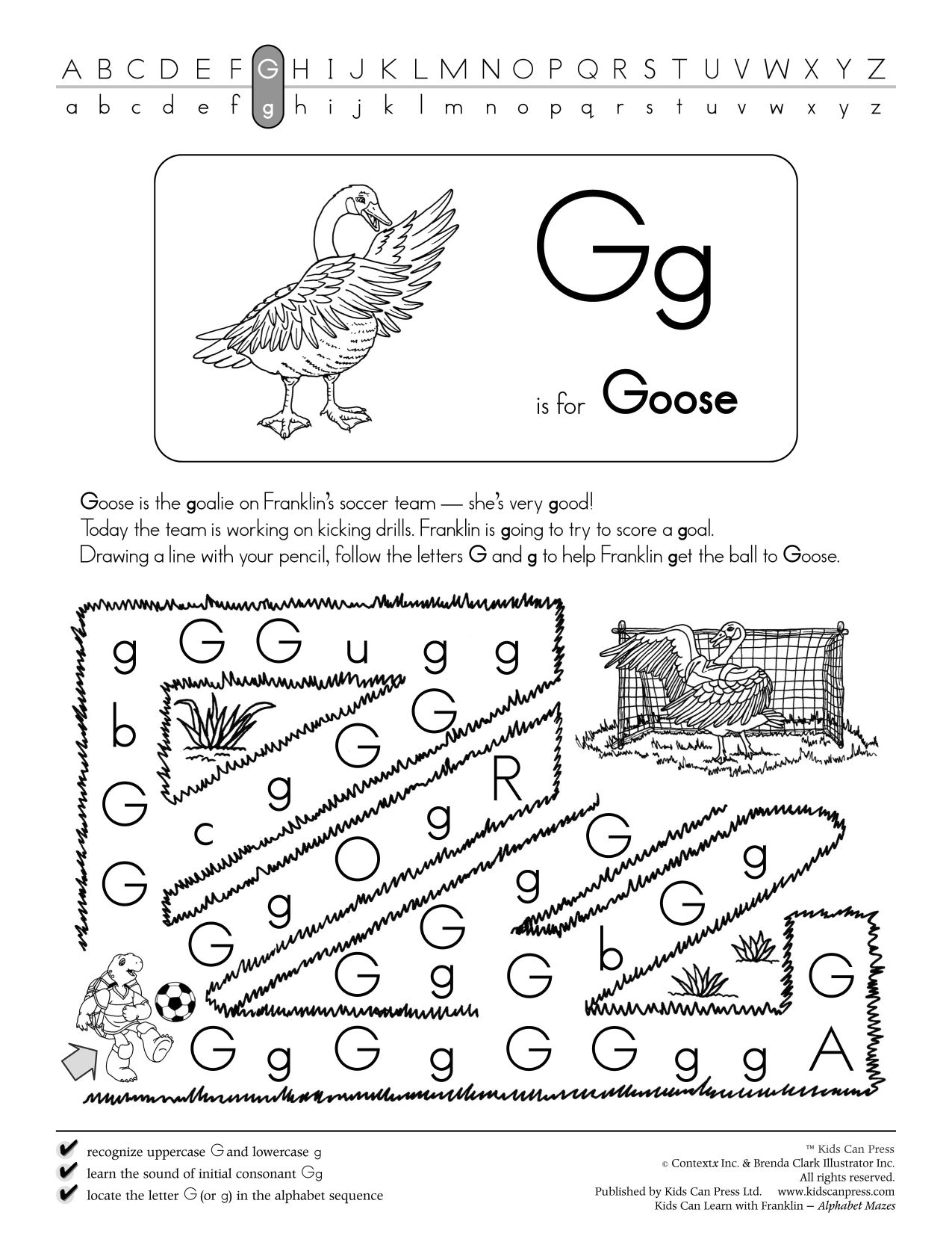Alphabet Mazes Follow The Letter Mazes Feature Both