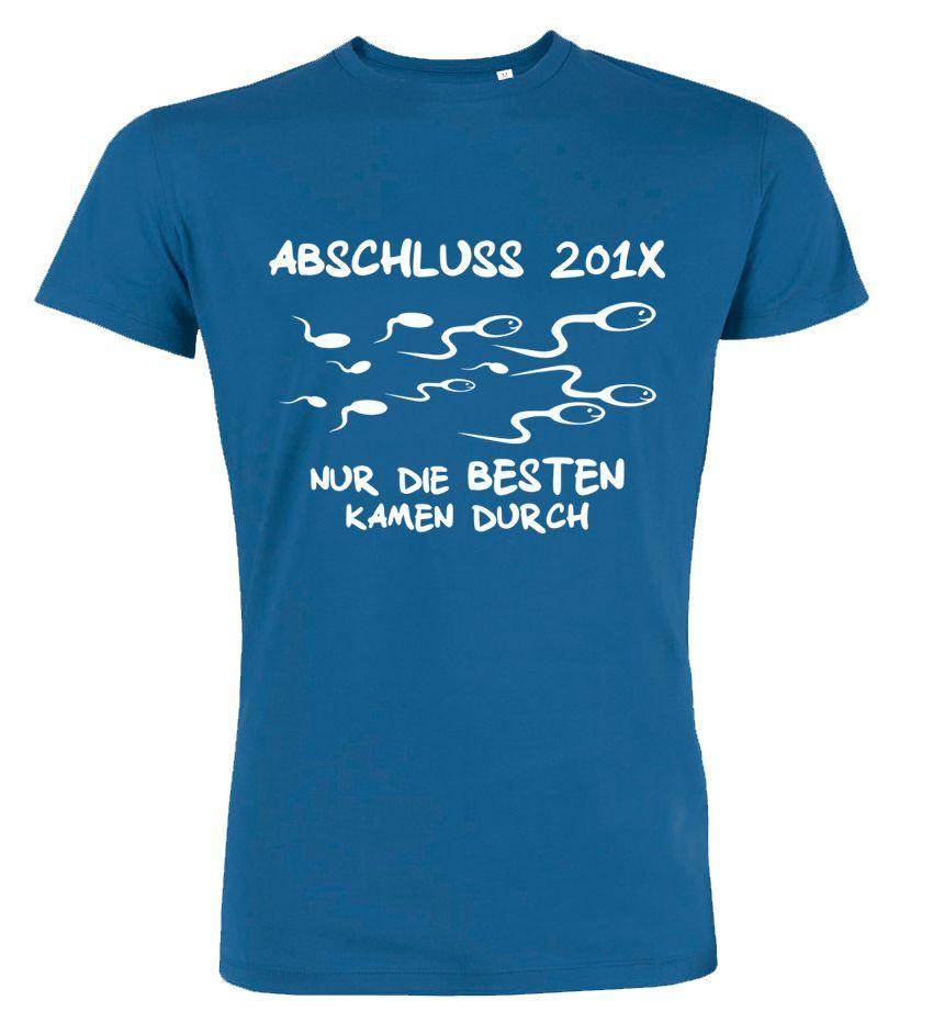 Nur die Besten kamen durch Abschluss T-Shirts. Spermien