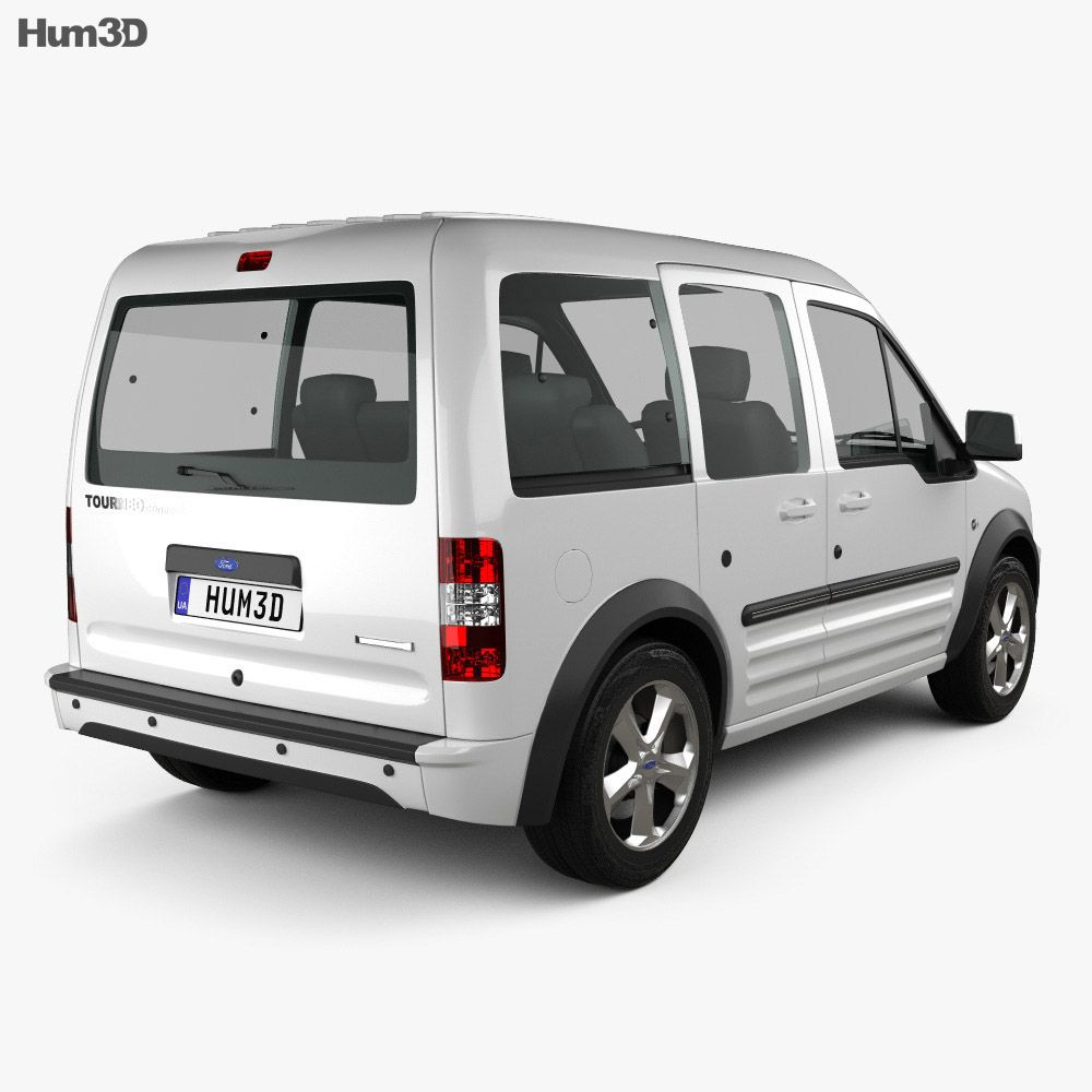 3d Model Of Ford Tourneo Connect Lwb 2012 Ford Van Ford 3d Model