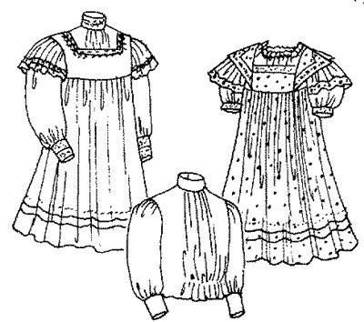 Sewing Pattern -1910 Girls\' Empire Dress Pattern. Size: Chest 23 ...